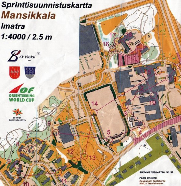 World Cup Sprint Imatra Qual Map and Results World of O News