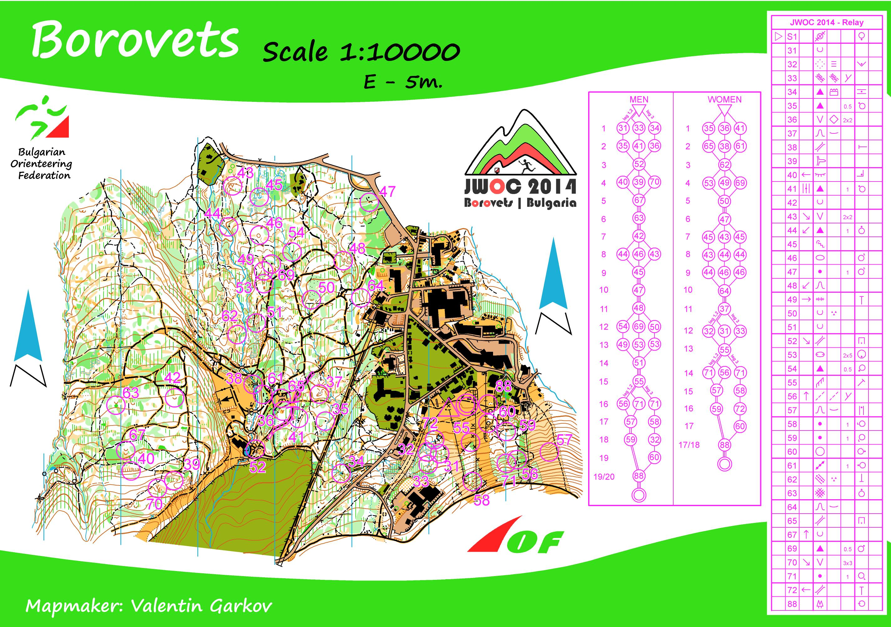 JWOC Maps Results And Medal Overview World Of O News - Norway map 2014
