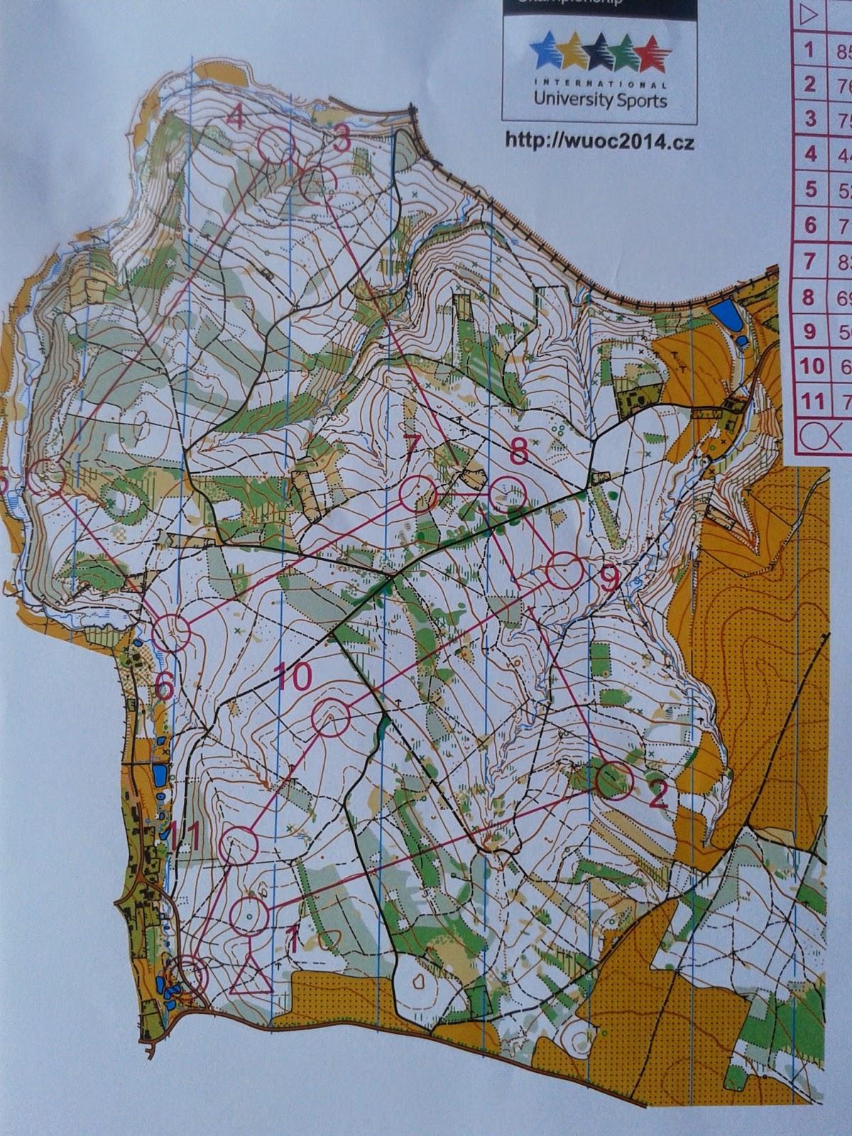 WUOC Long training map