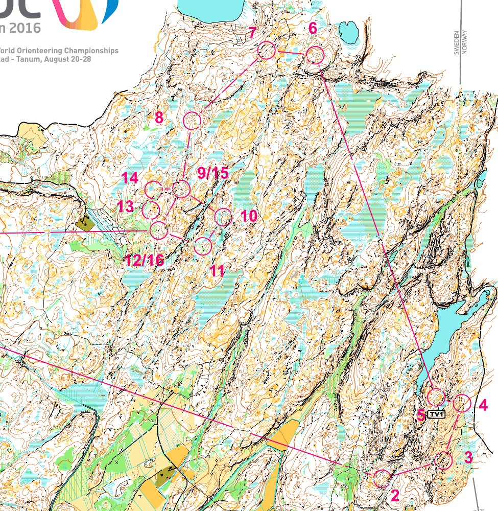 Woc 2016 long maps and results world of o news updated with gps animations the two biggest favourites olav lundanes norway and tove alexandersson sweden won the world orienteering championships biocorpaavc