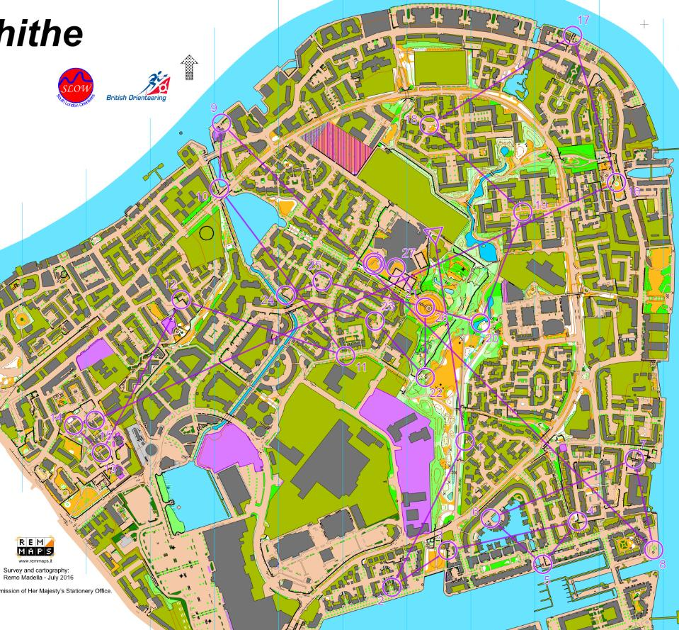 London City Race 2016 MElite October 9th 2016 Orienteering Map