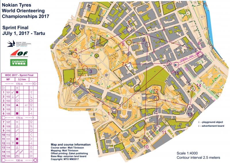 WOC 2017 Sprint Maps and Results World of O News