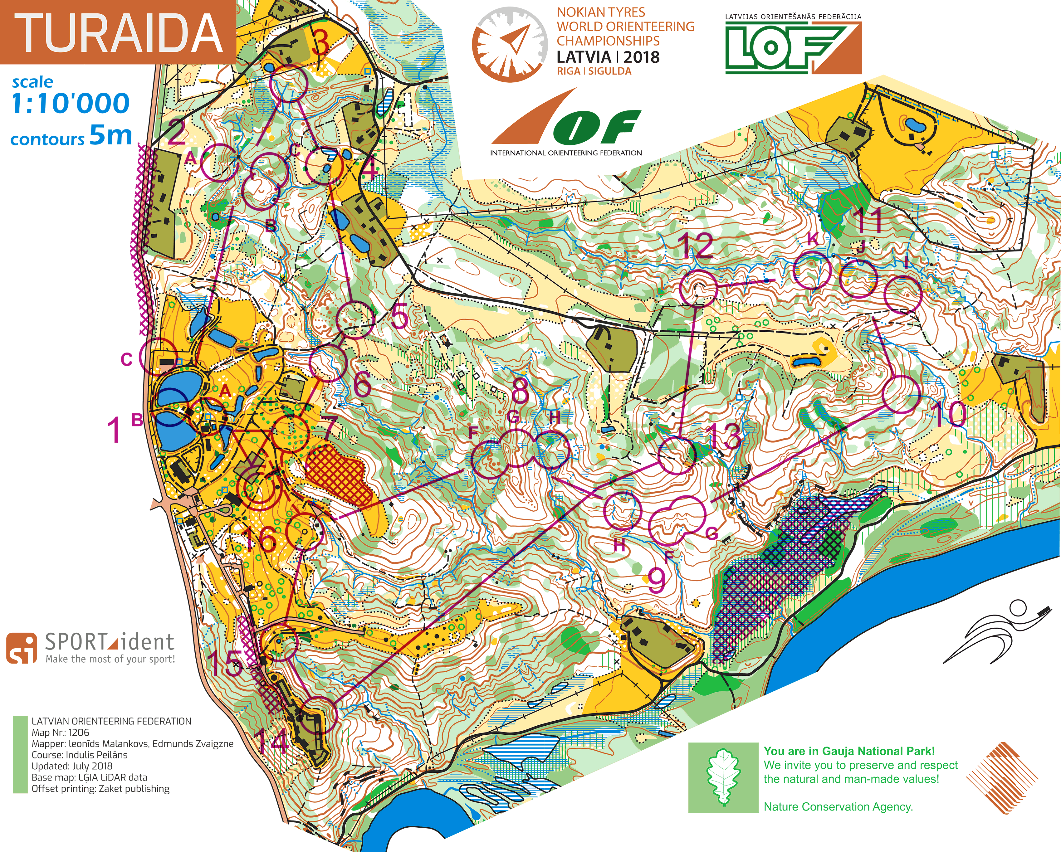 Races Of The World Map.Woc 2018 Relay Maps And Results World Of O News