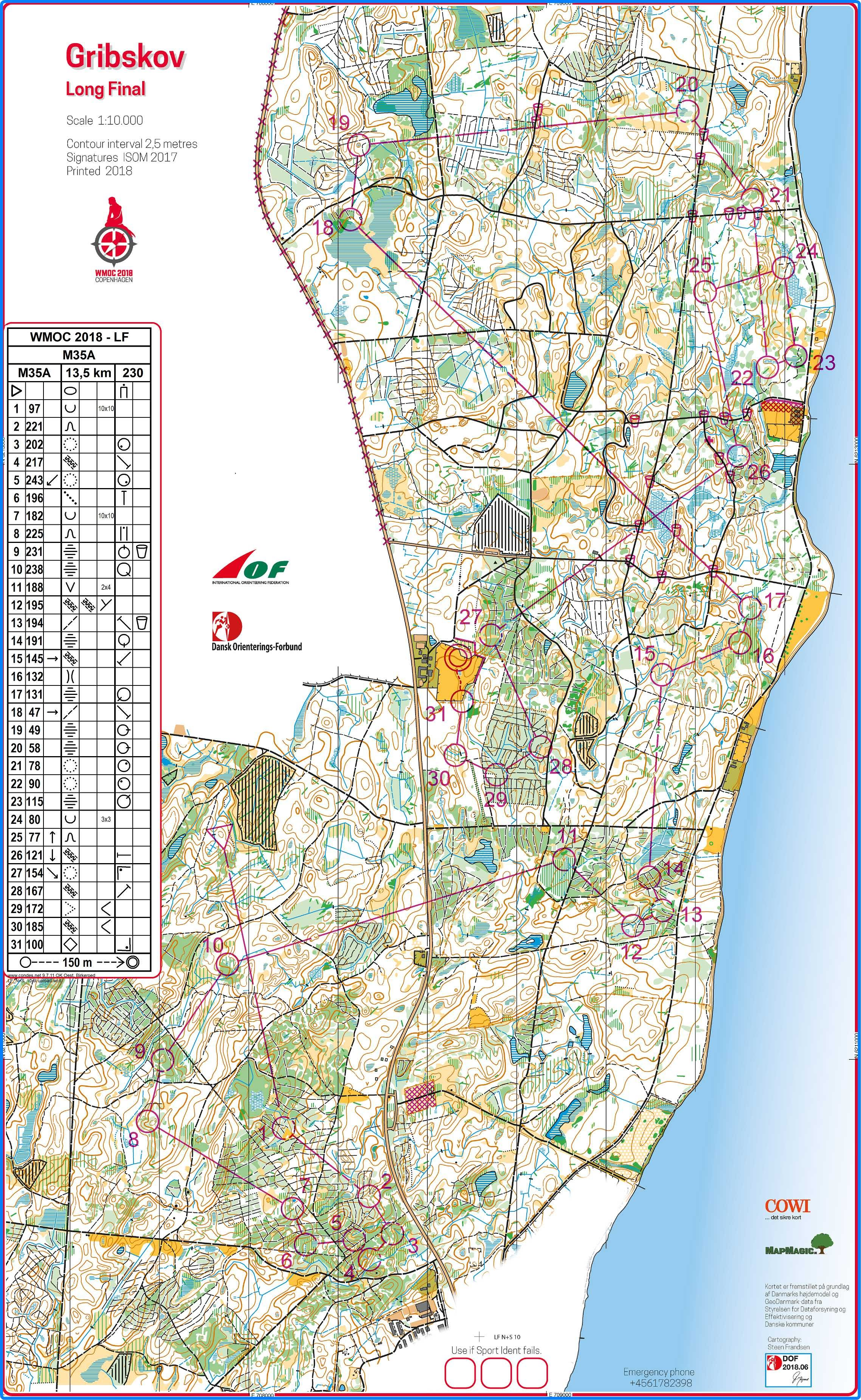 Wmoc 2018 Long M35 July 13th 2018 Orienteering Map From Suggested