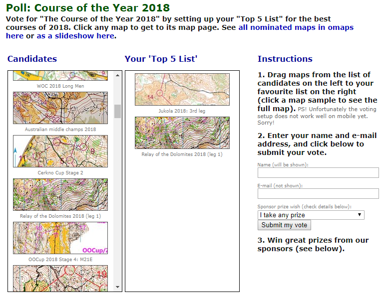 Vote for Course of the Year 2018 Now! | World of O News
