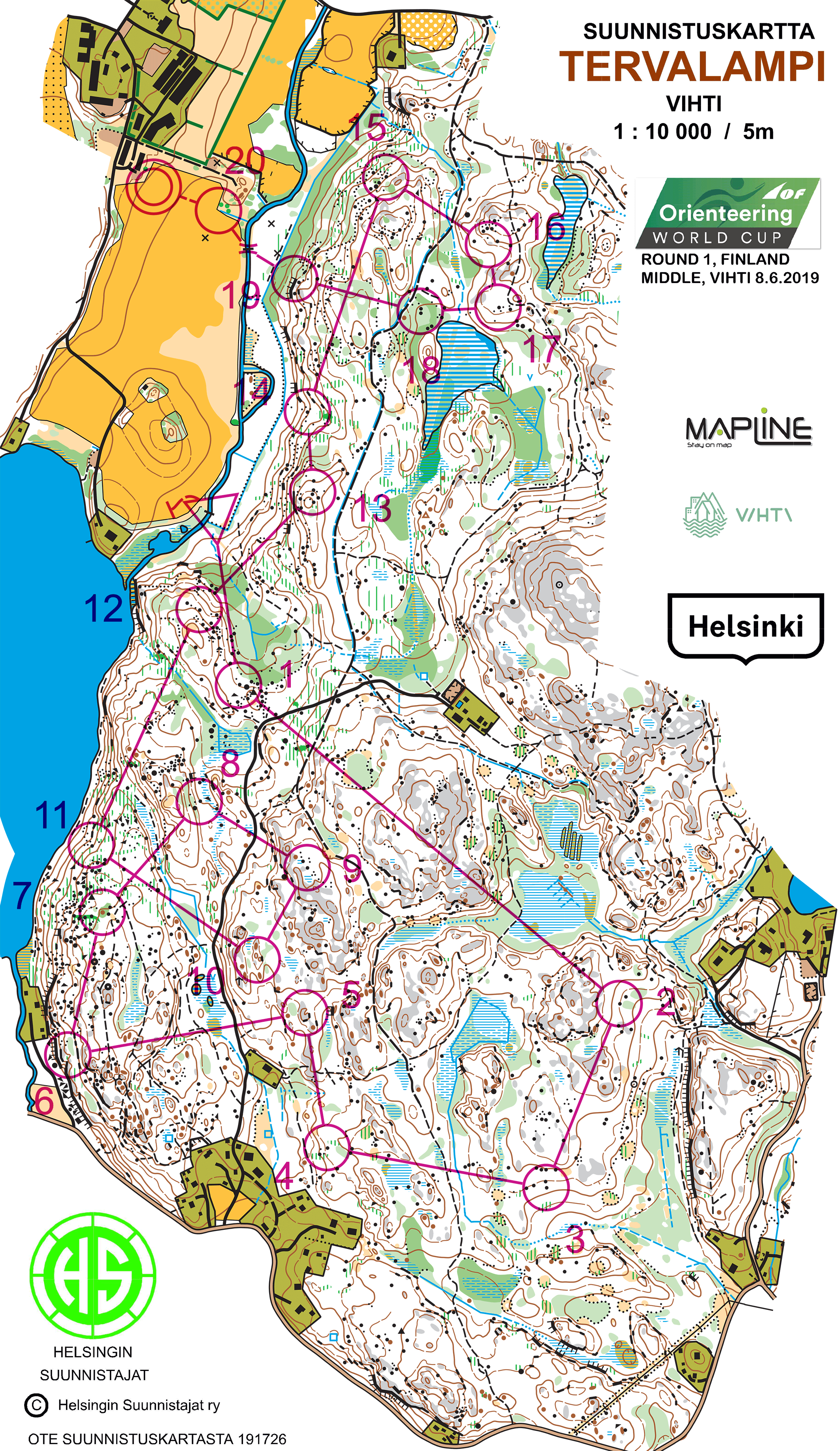 World Cup Finland 2019 Maps And Results World Of O News