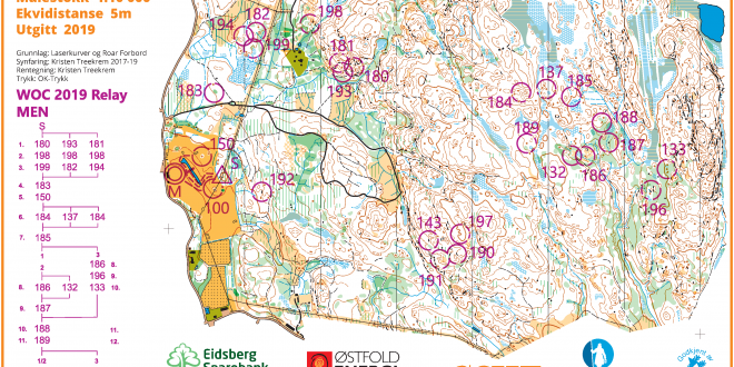 Www Map Of The World.Woc Relay 2019 Map And Results World Of O News