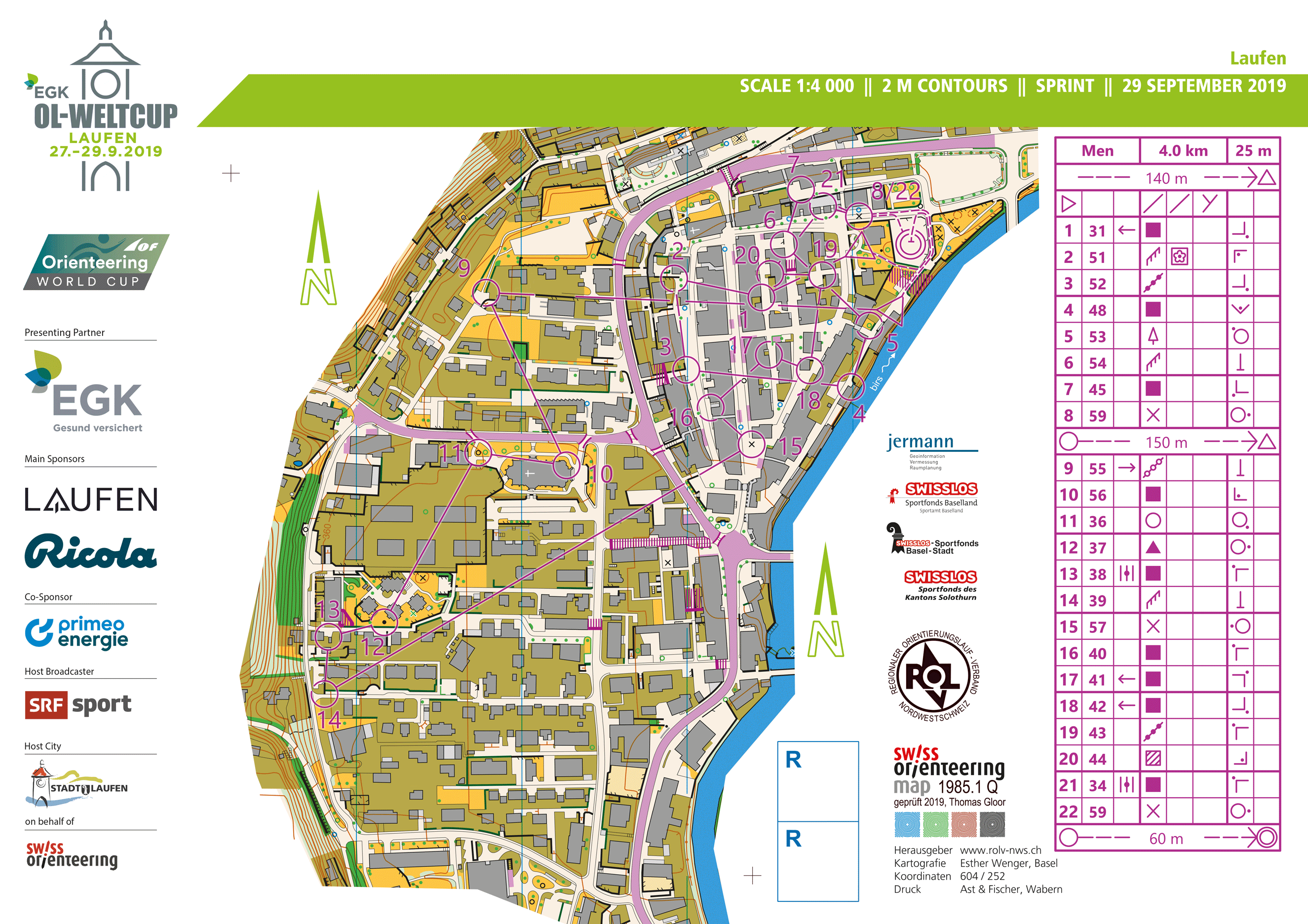 World Cup Switzerland Sprint 2019 Maps Results And Gps Analysis World Of O News
