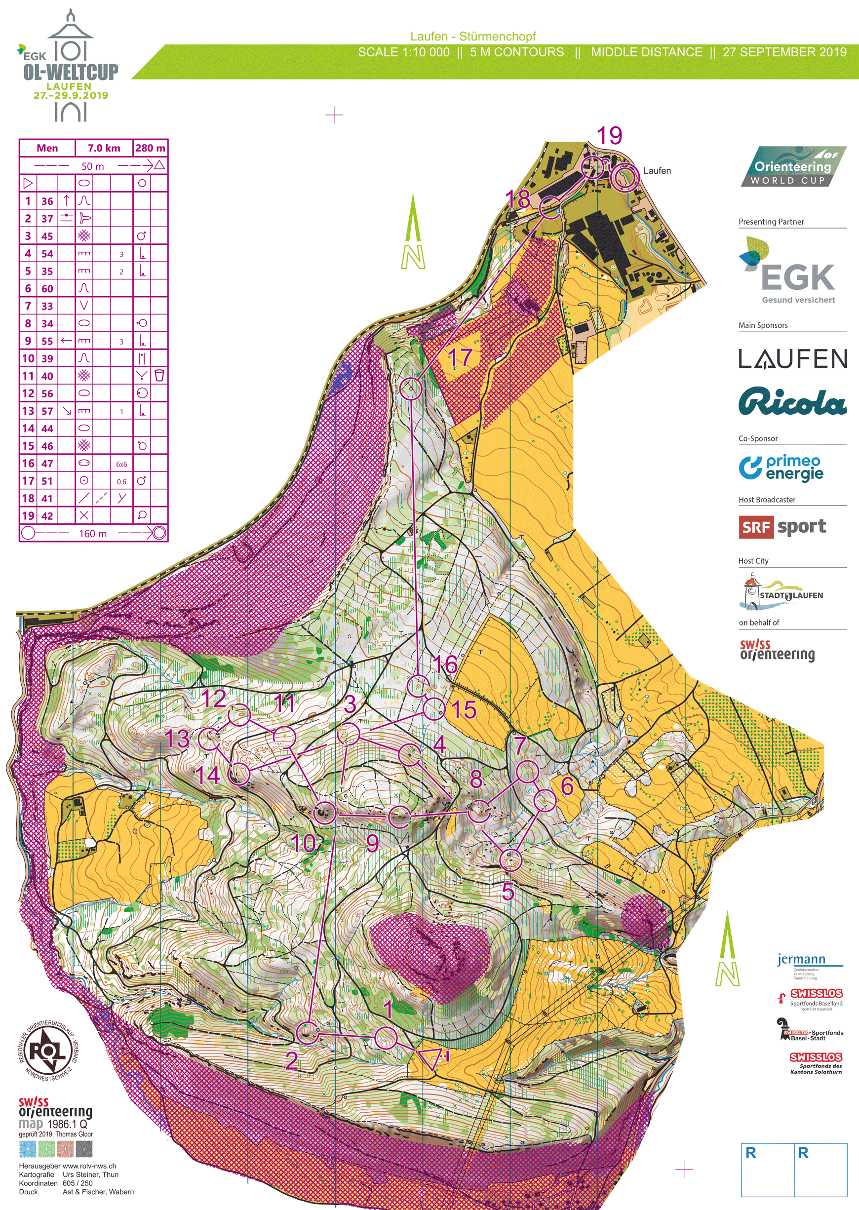 World Cup Switzerland Middle 2019 Maps And Results World Of O News